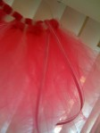 Bright Pink Tutu with Ribbon- close up view