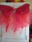 Brigt Pink Tutu with Sequin Wings and Ribbons